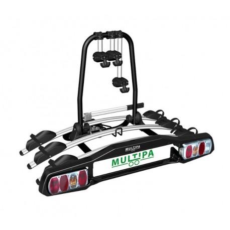 Kerékpárszállító vonóhorogra 3-as MULTIPA dönthető és zárható